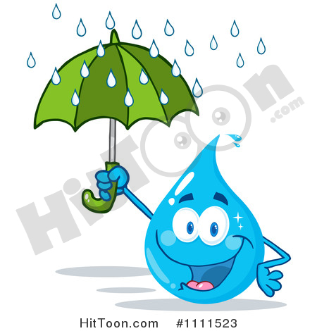 450x470 Water Drop Cartoon Characters Clipart