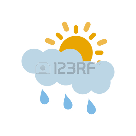 450x450 Cartoon Image Of Rain Icon. Rainfall Symbol Royalty Free Cliparts