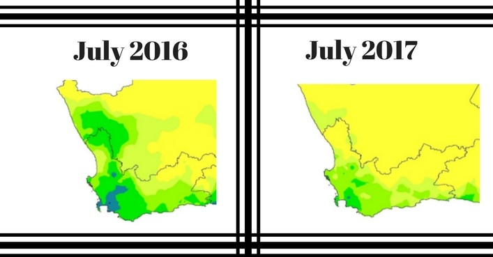 707x369 Cape Town's 2016 Vs 2017 Rainfall Map Is As Depressing As The Dam