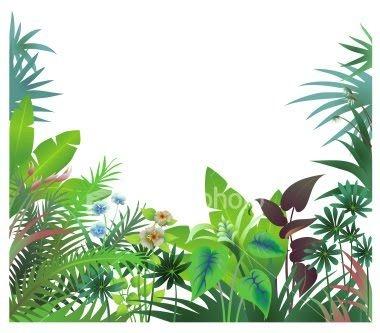 380x333 Rainforest Border Clip Art