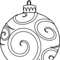 200x200 Christmas Ornament Clipart Black And White