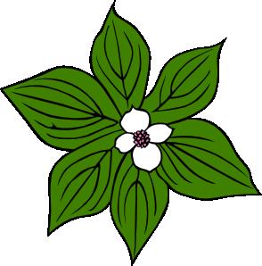 294x298 Green Flower Clip Art