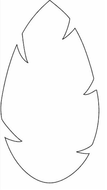 374x659 Leaf Clipart Outline Different Sizes