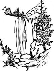 190x251 Rainforest Waterfall Clip Art Cliparts