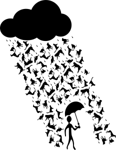 232x300 Raining Cats And Dogs Clip Art Download