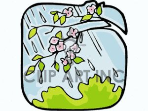 300x225 Cartoon Spring Rain Spring Clipart