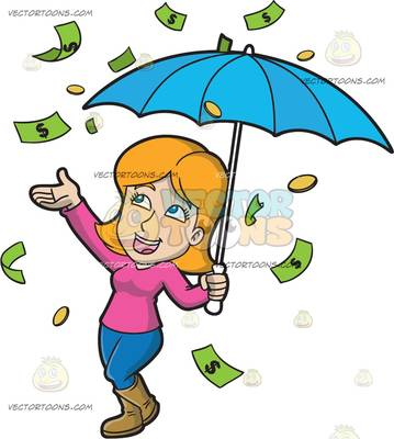 359x400 A Happy Woman In The Middle Of A Raining Money Day At Hospital