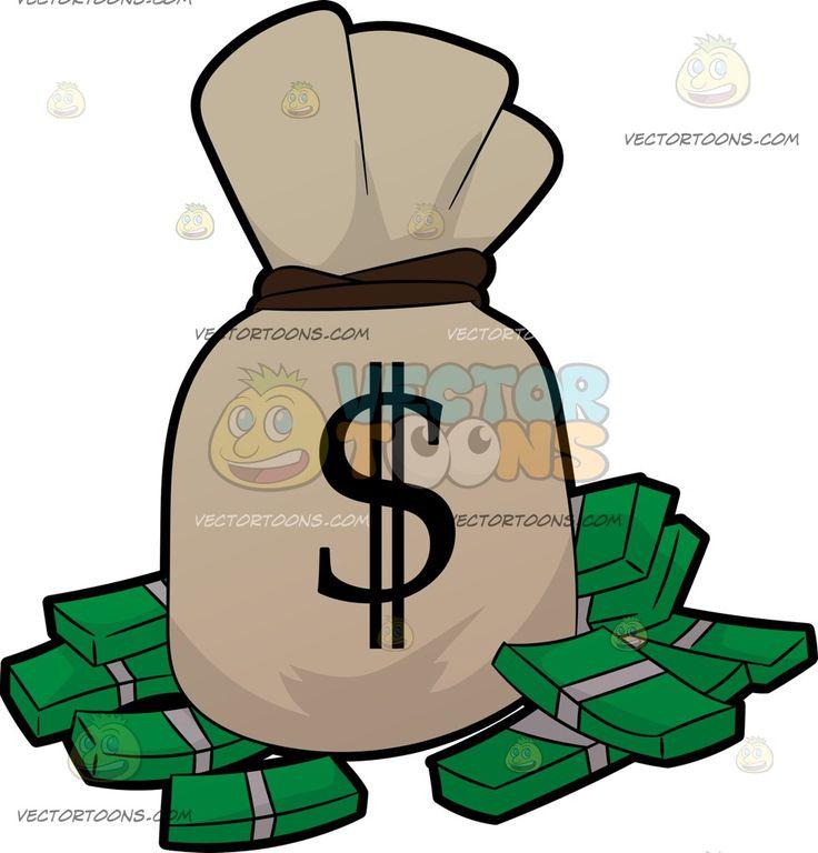 Raining Money Clipart