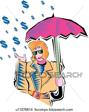 377x470 Clipart Of Its Raining Money U17276614