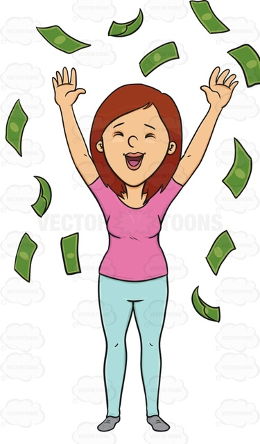 Animated money. Raining clipart free download