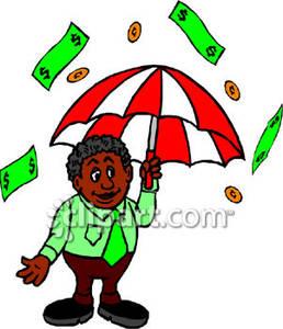 258x300 Man Under An Umbrella In Raining Money