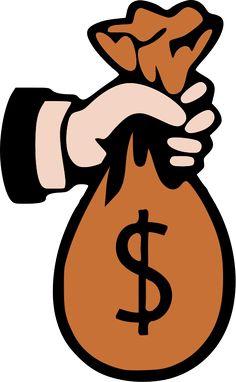 236x382 Money Text With Raining Dollar Symbols Royalty Free Cliparts