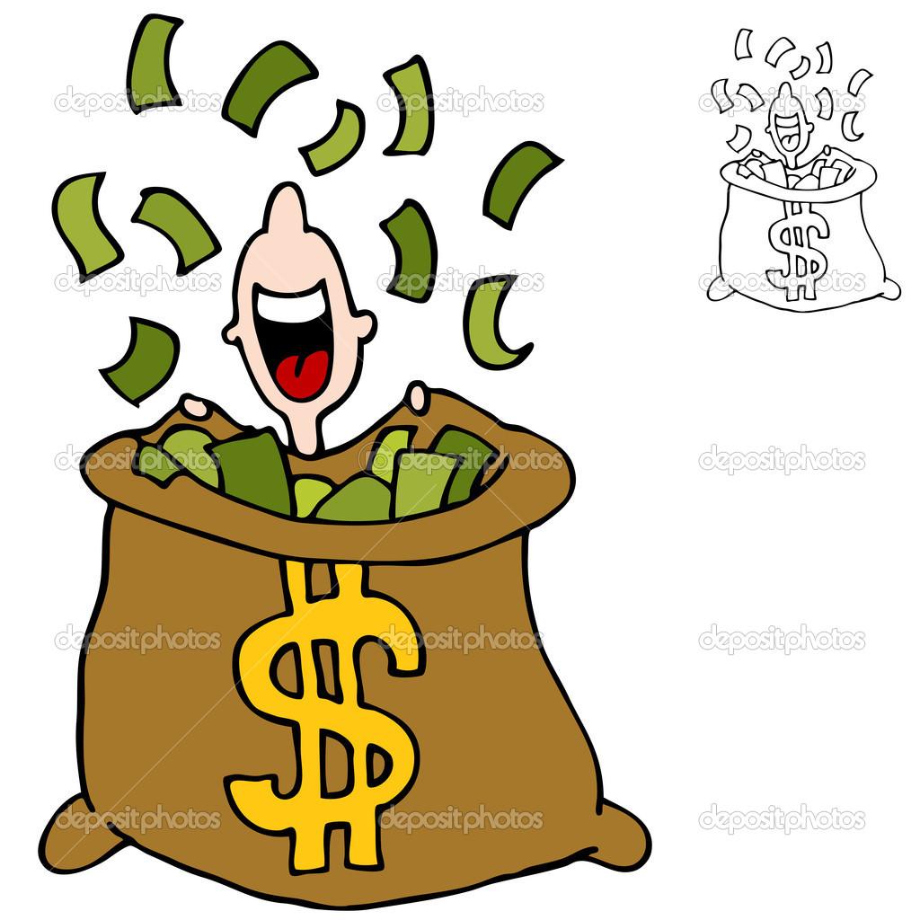 1024x1024 Raining Money Animated Clipart