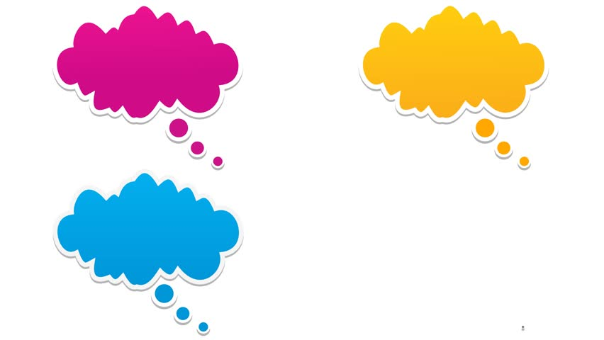 852x480 Hand Drawn Cartoon Of A Single Raining Cloud In Alpha Matte Stock