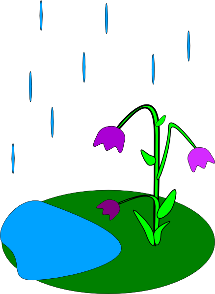 438x597 Rain Flowers Clip Art
