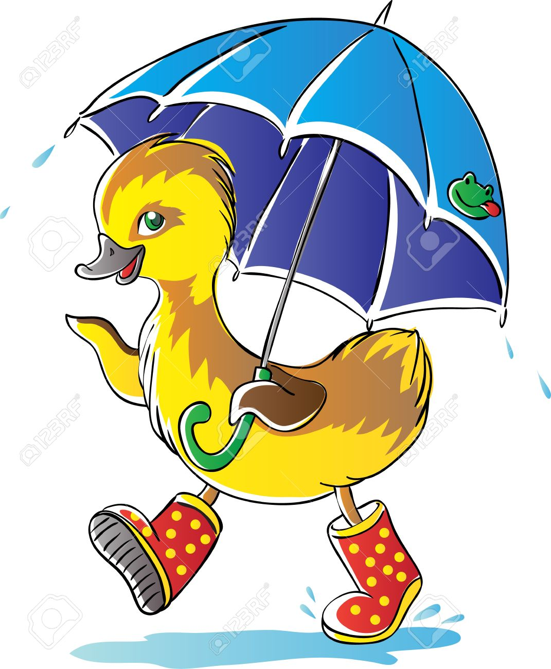 1071x1300 Animated Rain Duck Cliparts