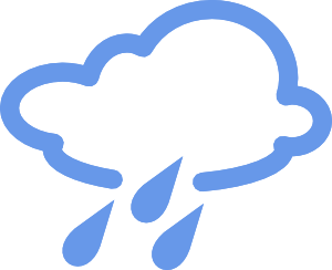 300x244 Rainy Weather Symbols Clip Art