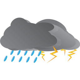256x256 Thunderstorm Clipart Animated Rain
