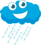 175x190 Rainy Cloud Clipart