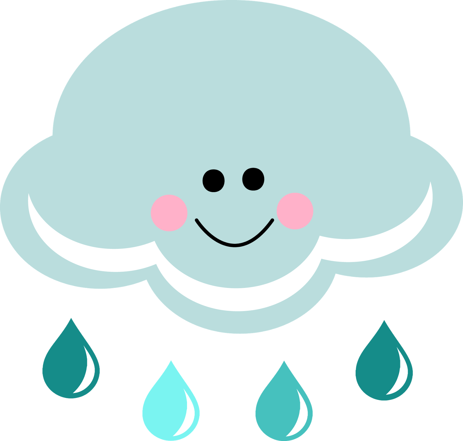 1600x1524 Happy Rain Cloud Clipart
