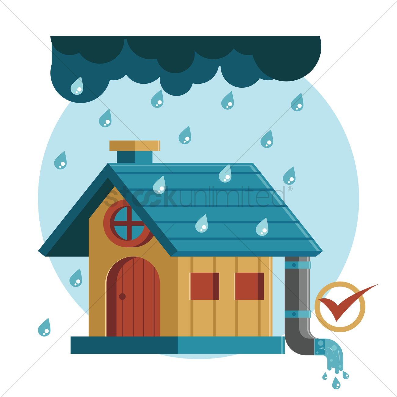 1300x1300 House Clipart Raining
