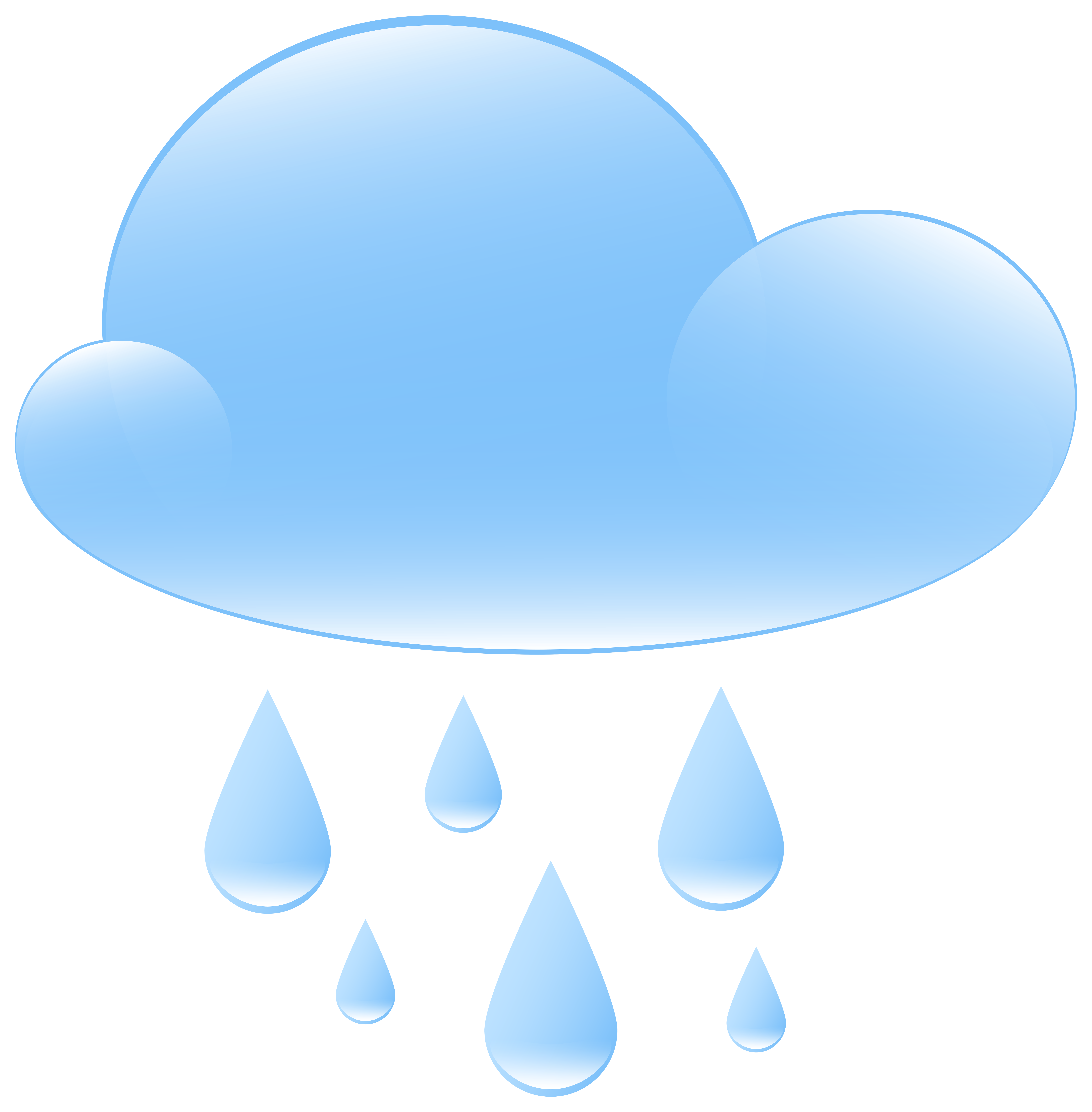 7854x8000 Rainy Weather Icon Png Clip Art