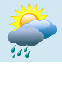 213x298 Weather Forecast Partly Sunny With Rain Clip Art