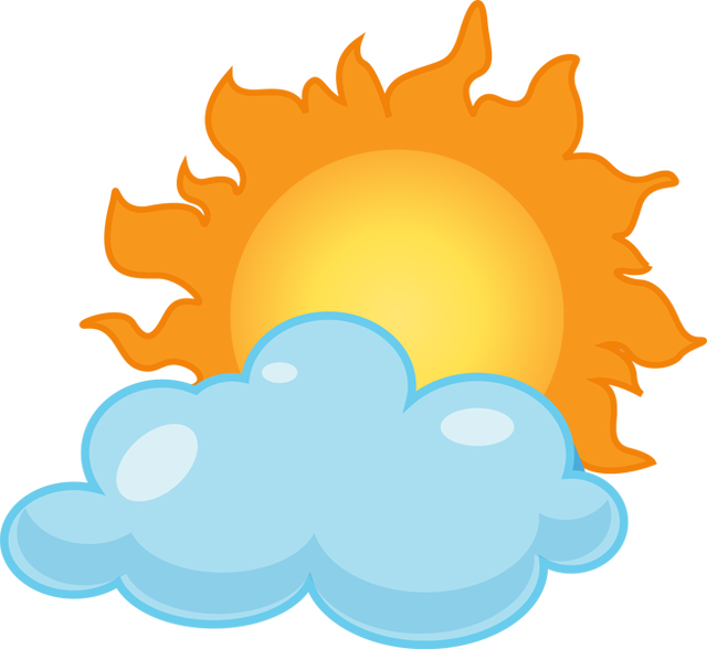 640x588 Clip Art Partly Sunny Rainy Clipart Kid