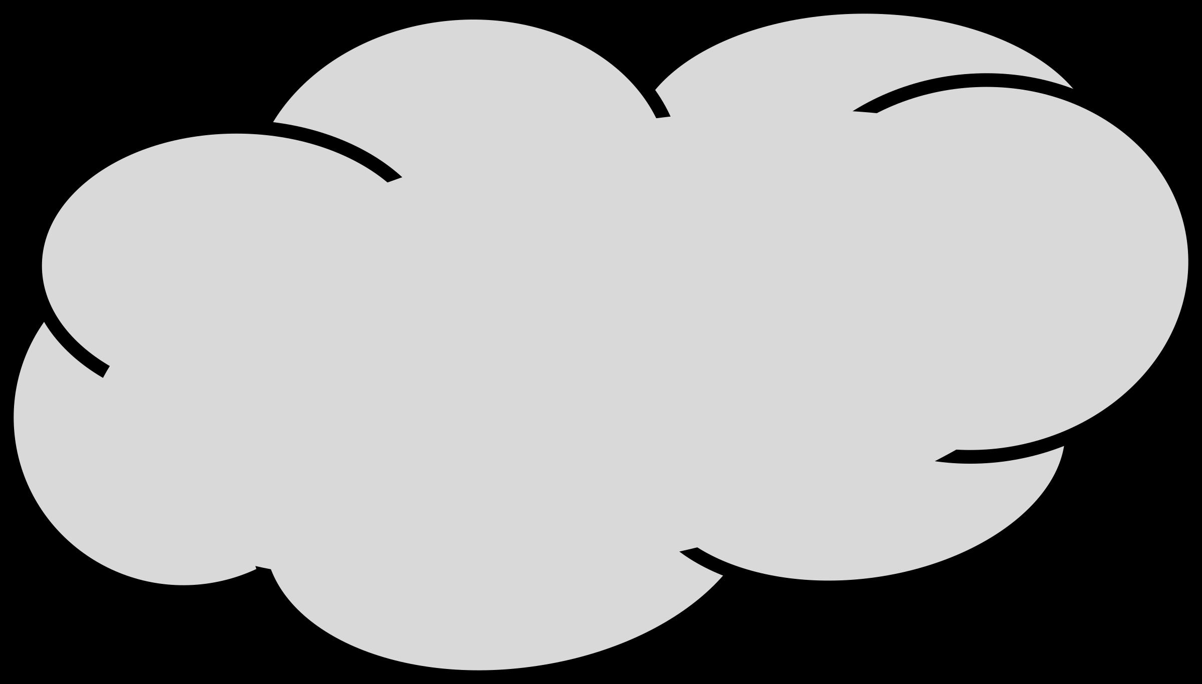 2400x1366 Gray Clipart Rain Cloud