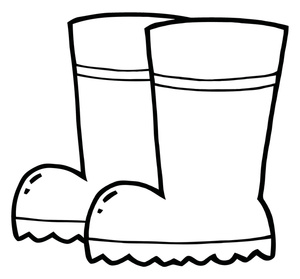 300x279 Rain Boots Clipart Black And White