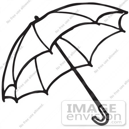 450x450 Umbrella Black And White Clipart
