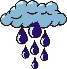 284x295 Thunderstorm Clipart Rainy Day