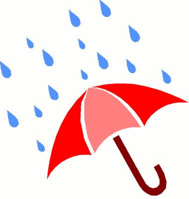 379x400 Rainy Day Umbrella Clipart