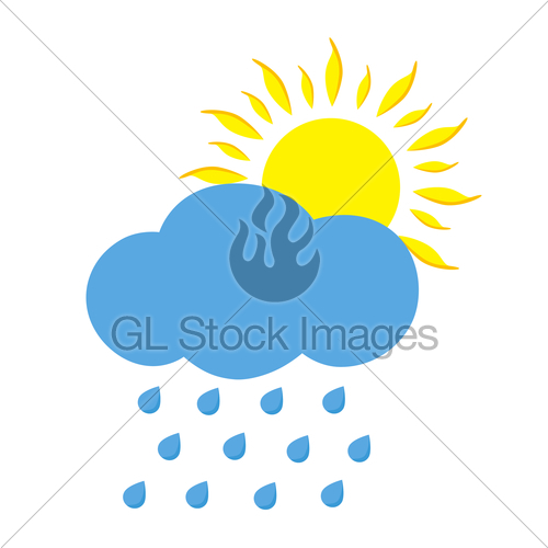 500x500 Sunny And Rainy Day Gl Stock Images
