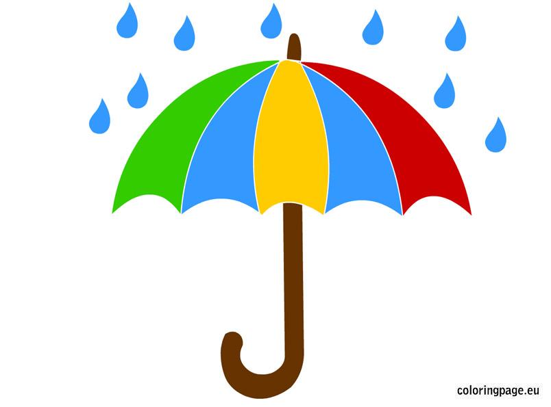 804x595 Clipart Umbrella Rain