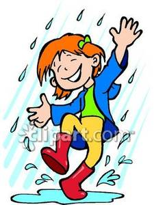 225x300 Children Playing In The Rain Clipart Collection