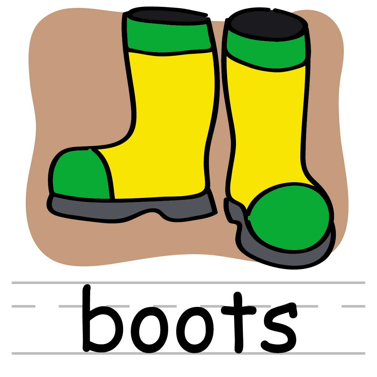 1200x1200 Boots Clipart Rainy Season Clothes
