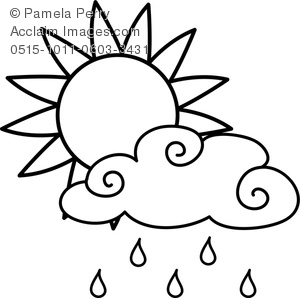 300x298 Rain Clouds Clipart Black And White Clipart Panda