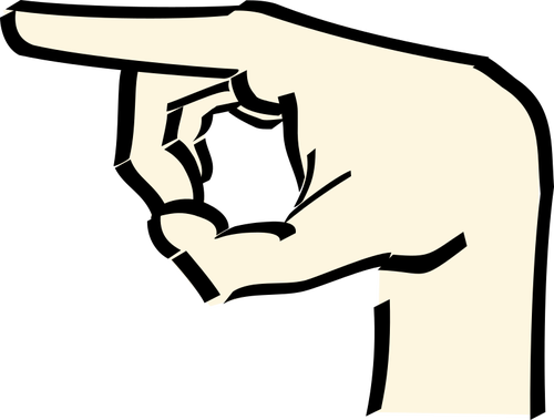500x379 1600 Hand Pointing Right Clipart Public Domain Vectors