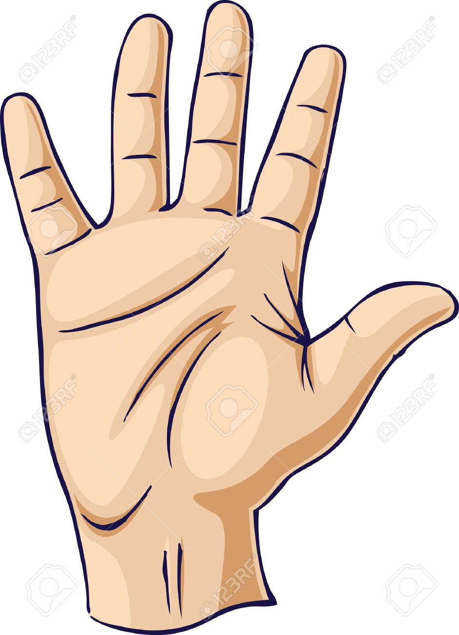 940x1300 Hand Raised In An Open Hand Gesture Royalty Free Cliparts, Vectors
