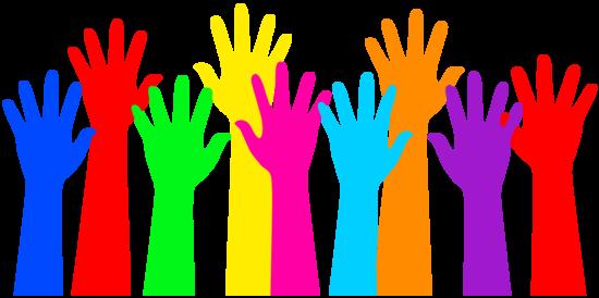 550x274 Rainbow Colored Raised Hands