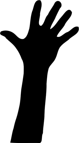 277x500 Vector Clip Art Of Raised Hand Silhouette Public Domain Vectors