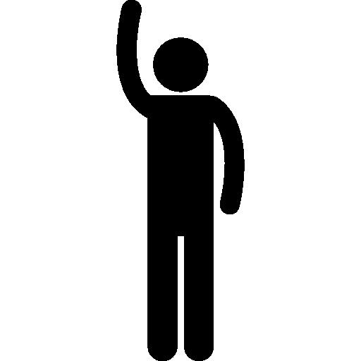 512x512 Raising Hand Silhouette
