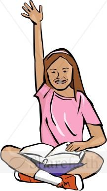 217x388 Clip Art Student Raising Her Hand Clipart
