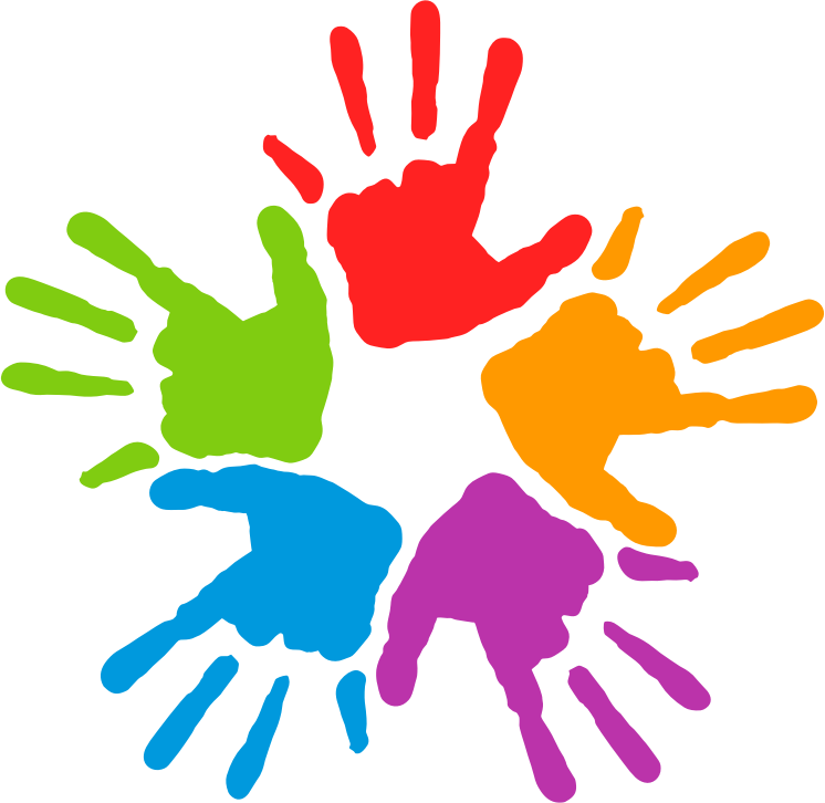 746x726 Free Five Colorful Hands Clip Art Tnt Clip Art