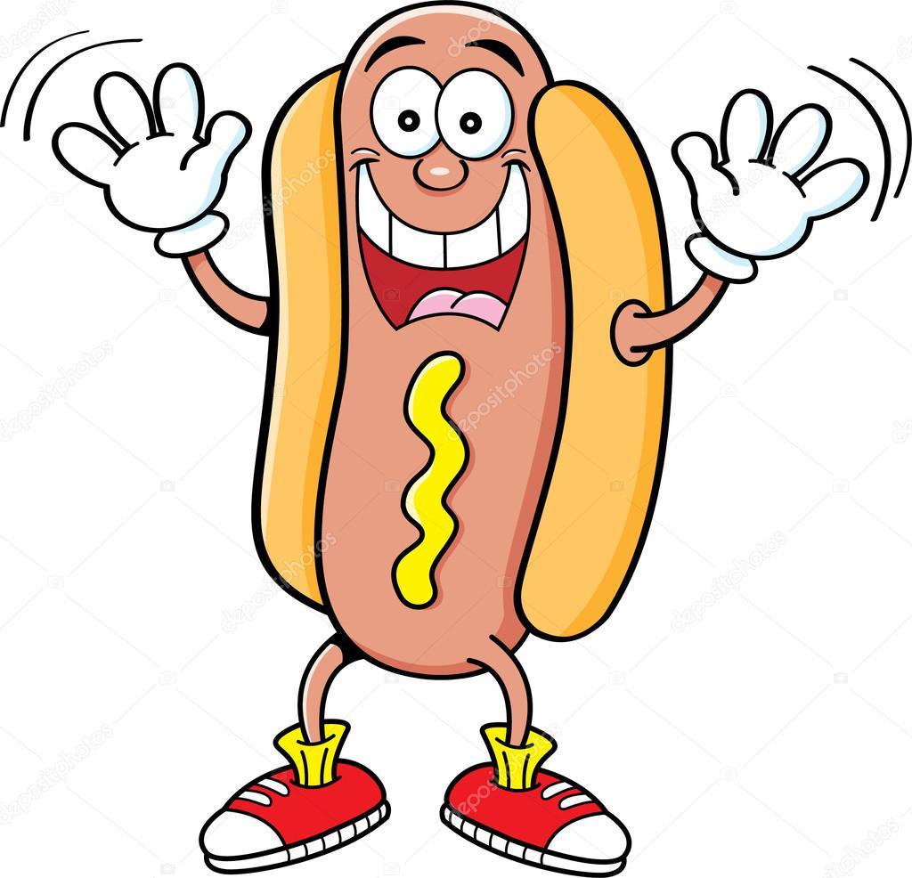 1024x986 Hot Dog Cartoon Raising Hands Stock Vector Kenbenner