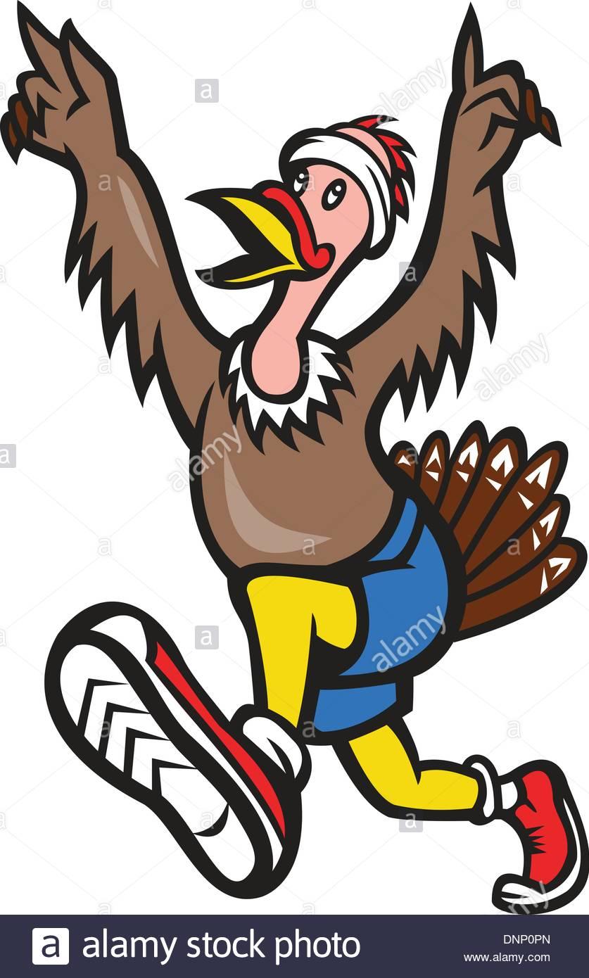 837x1390 Illustration Of A Wild Turkey Run Trot Running Runner Raising