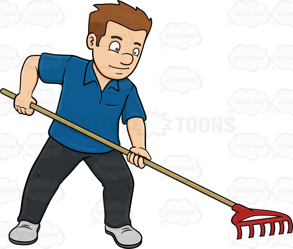 1024x871 A Man Using A Garden Rake Garden Rake