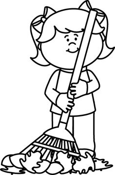 236x359 Boy Helping To Rake Leaves Clipart Free, Free Boy Helping To Rake