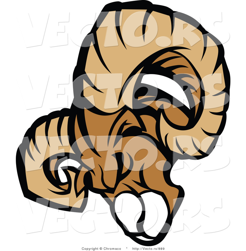 1024x1044 Vector Of An Aggressive Ram Mascot Charging Forward By Chromaco